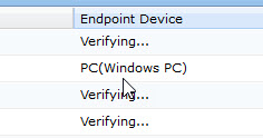 Verifying Endpoind Device